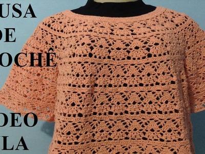 Crochê - Blusa nº 1 #LuizadeLugh