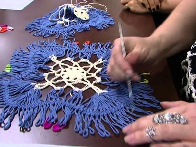 Mulher.com - 15.04.2016 - Bata branca em crochê de grampo - Helen Mareth PT2