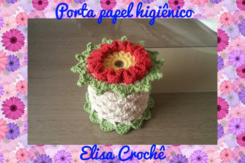 Porta papel higi nico em croch elisa croch my crafts for Colgadores para papel higienico