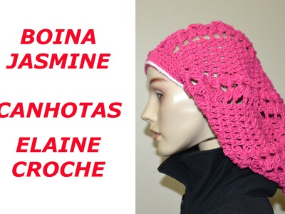 CROCHE PARA CANHOTOS - LEFT HANDED CROCHET - BOINA JASMINE CROCHE CANHOTAS