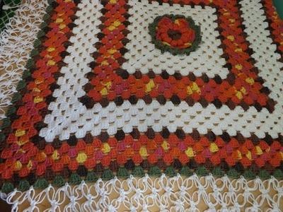 Crochet Colcha o Cobija Para Bebe Con Granny Square