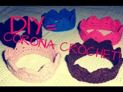 DIY= CORONA. CROWN A CROCHET :)