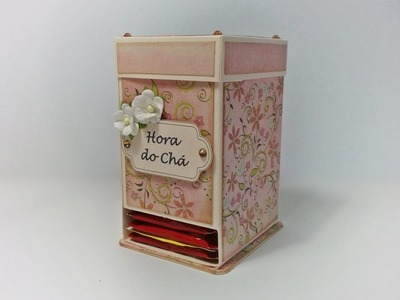 DIY | Tutorial - Caixa para Chá - Tea Bag Dispenser Box