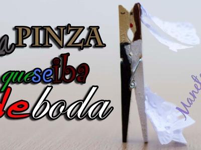 Pinza con forma de novios para bodas |Tutorial DIY