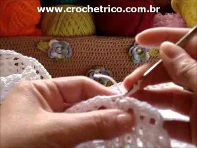 CROCHE - Bolero Branco - Tam.: P - Parte 05.07 (Sem Som)
