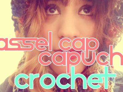 DIY= TASSEL CAP. CAPUCHA A CROCHET