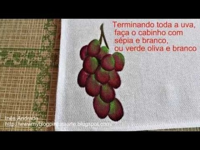 Como pintar uva em tecidos - How to Paint Grape Fabric