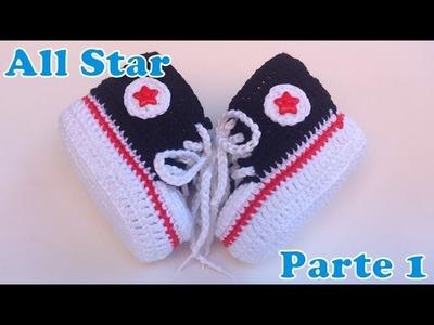 Sapatinho All Star de Crochê 1