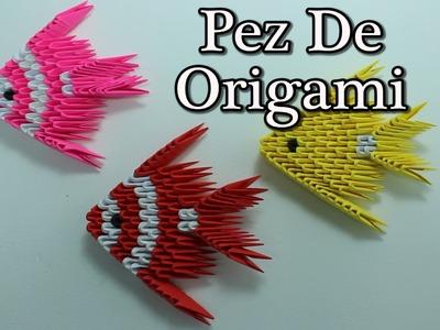 3D Origami Fish. Pez Origami 3D ¡TUTORIAL!
