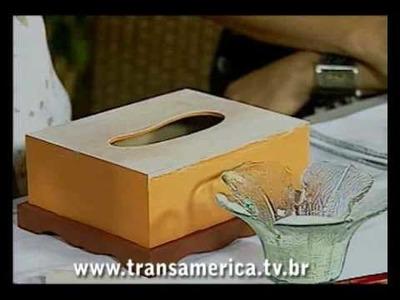 Tv Transamérica Tecnica aplicada pronveçal com patina dourada