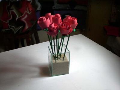 Artesanato - Rosas de papel