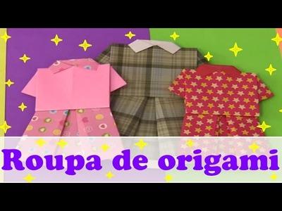 ORIGAMI - CONJUNTO DE CAMISA E SAIA - PARTE 3