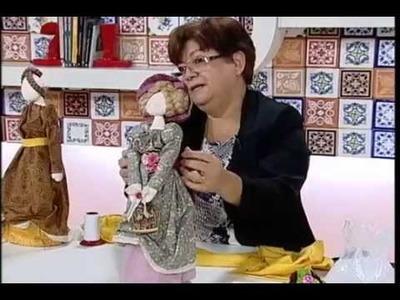 Artesanato - Boneca para peso de porta