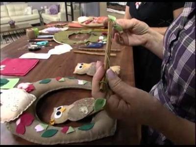 Mulher.com 27.07.2012 Carmen Silva - Guirlanda de coruja 02