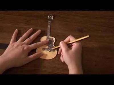 Guitarra Acústica. Paso 1: Molde de Goma Eva