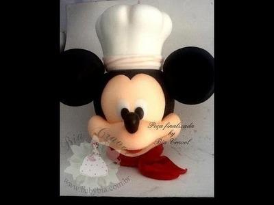 Mickey Cozinheiro Porta Bolacha  modelado por Bia Cravol