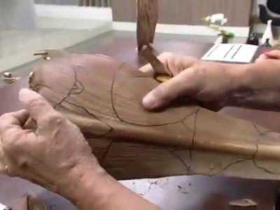 Mulher.com 24.10.2014 - Escultura pirografada por Walter Silva Parte 1