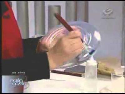 Prato de vidro customizado com decoupage. Ione Borges, Carol Guaraldo e Gislene Giardiello.
