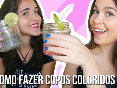DIY: Como fazer copos coloridos ♥
