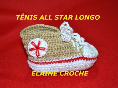TENIS ALL STAR LONGO EM CROCHE