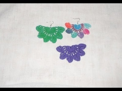 Crochê Brinco Marry - Crochet earring - Pendiente de ganchillo