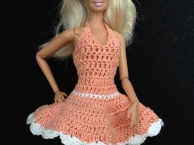 Croche.Vestidinho para barbie 2.1- LiiArt