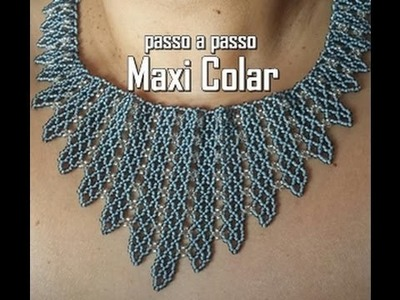 NM Bijoux - Maxi Colar cinza