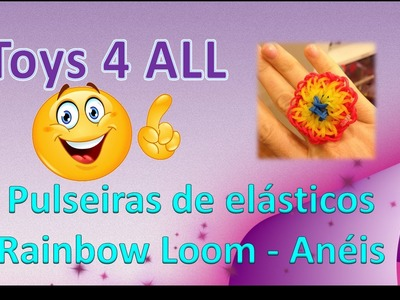 Pulseiras elasticos rainbow loom charm aneis ring v1 1