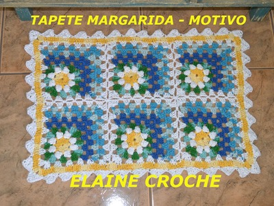 CROCHE PARA CANHOTOS - LEFT HANDED CROCHET - TAPETE MARGARIDA - MOTIVO - CANHOTAS
