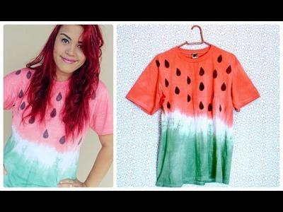 DIY: T-shirt de melancia com tie dye