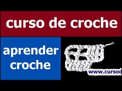 CURSO DE CROCHE AULA 075.081 AUMENTOS DO CROCHE FILÉ 3