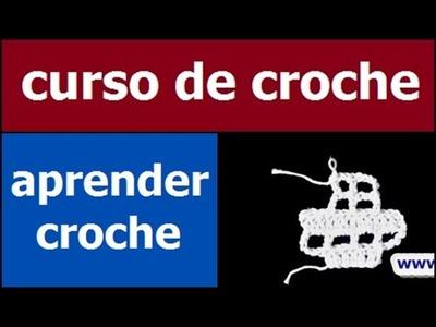 CURSO DE CROCHE AULA 078.081 AUMENTOS E DIMINUIÇOES NO CROCHE FILÉ