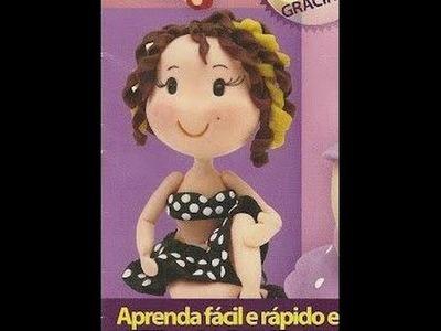 LINDA BONECA EM BISCUIT