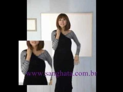 Cachecol Versátil SANGHATA - Transforma em Vestidos