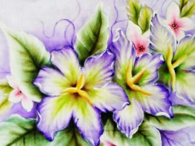 Lírios e Flor de Cerejeira (Tecido)