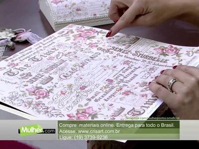 Mulher.com 10.04.2015 - MARISA MAGALHAES BAU COM SCRAPDECOR PT1