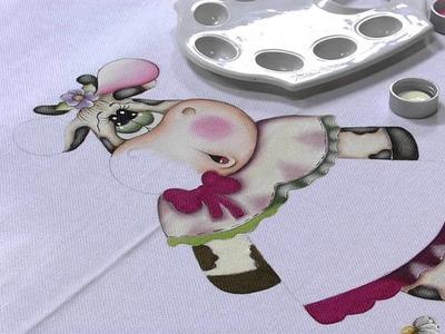 Mulher.com 26.08.2013 Gislaine Mara - Pintura Country no Pano de Prato P 1.2