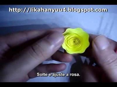 [Quilling] Tutorial Rosa Espiral Grande 2  (Spiral Rose)