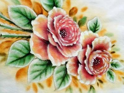 Rosas - Pintura em Tecido -  Aula Resumida