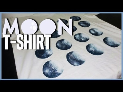 DIY Camiseta Fases da Lua. Moon T-shirt