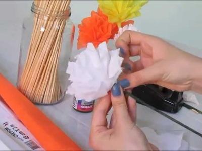 DIY: Como fazer rosa com papel crepom
