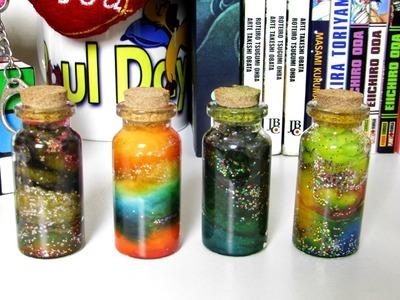DIY: Galáxia Engarrafada.Bottle Nebula | Canal monarca