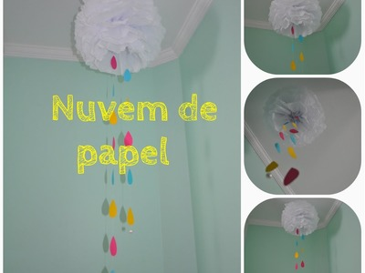 DIY - Nuvem de papel
