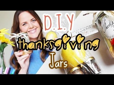 DIY: Thanksgiving Gift Jars (Cheap and Easy) - DIY: Presentinhos para o dia de ação de graças