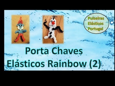 Porta chaves pulseiras elasticos rainbow loom charm bonecos parte 2 elasticos portugal