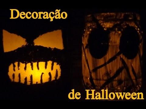 Decoração de Halloween - DIY Luminárias