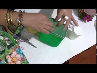 Aprender con Rossana TV: Decoración para potes de jugos
