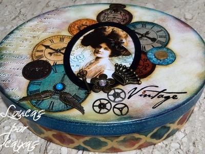 Caixa Vintage com relógios - Mega artesanal 2015