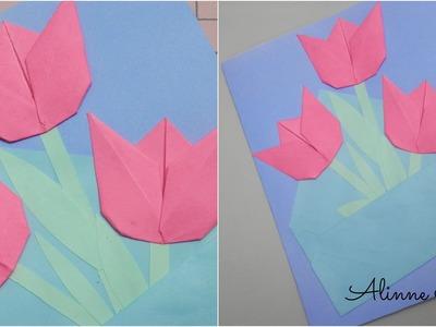 Cartão tulipas - Artesanato