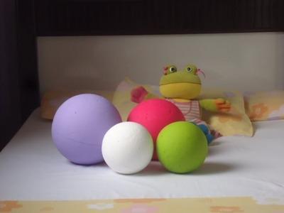 DIY:Bolas de Isopor Para Decorar Seu Quarto